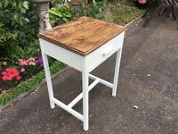 Antique 1930s oak side table