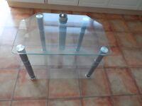 "Glass TV Stand 3 shelves 28"" x 18"" x 20"""