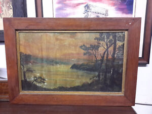 ANTIQUE OIL PAINTING MUSKOKA BY H.DEARBORN