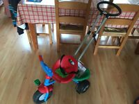 Berchet Toddler trike and parent handle