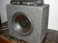 """12"""" Subwoofer and 600W amp"""