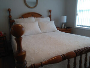Queen size Bedroom Set. Just in time for your Christmas guests!