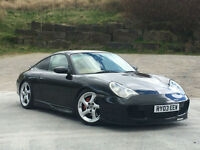 Porsche 911 3.6 2003 Carrera 2 WITH GT3 BODY STYLING IN BASALT BLACK PX SWAP