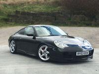Porsche 911 3.6 2003 Carrera 2 WITH GT3 BODY STYLING IN BASALT BLACK PX SWAP