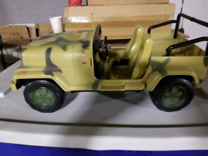 Army jeep and trailer