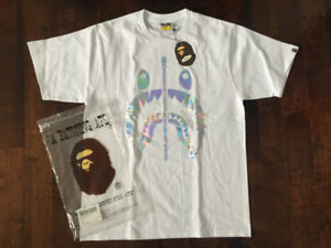 BAPE HOLOGRAM SHARK TEE MENS LARGE