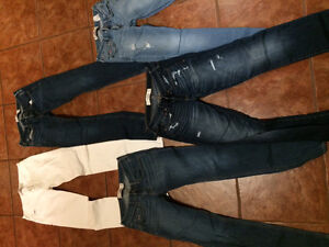 4 sz 26 Hollister jeans and 1 Abercrombie and Fitch