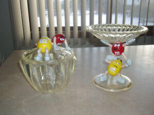 ~ M&M'S VINTAGE COLLECTOR DISPENSERS & RARE M&M'S CANDY DISHES~