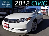 2012 Honda Civic EX (1) owner with sunroof & alloy wheels.