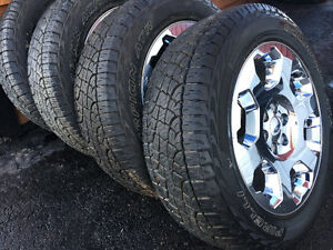 "20"" Chrome Factory F150 Wheels & Tires -- Like New"