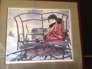 L'enfant au boggie. by Claude St-Cyr, numbered framed print