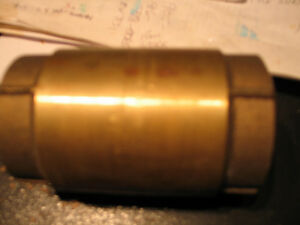 "Brass check valve 2"" new"