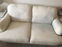 NEXT cream two seater fabric couch