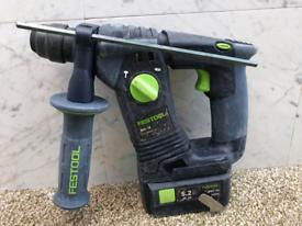 Festool 18v sds hammer drill +5.2ah battery