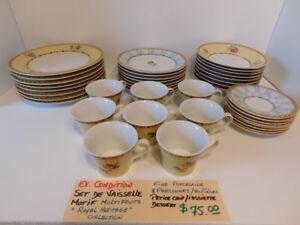 """Set de vaisselle """" Royal Heritage """" pour 8 personnes"""
