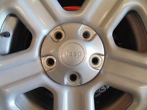 4 RIMS JEEP WRANGLER WITH TIRES FOR SALE