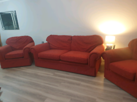 M&S Sofa & two Armchairs