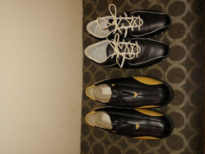 2 pairs womens golf shoes-Nike & Adidas - exc condition -$5 each