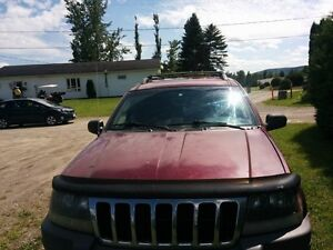 2002 Jeep Grand Cherokee red SUV, Crossover