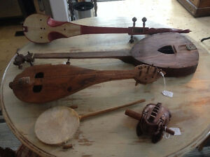 Antique & new Martin musical instruments