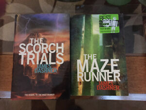 Maze Runner and Scorch Trails books