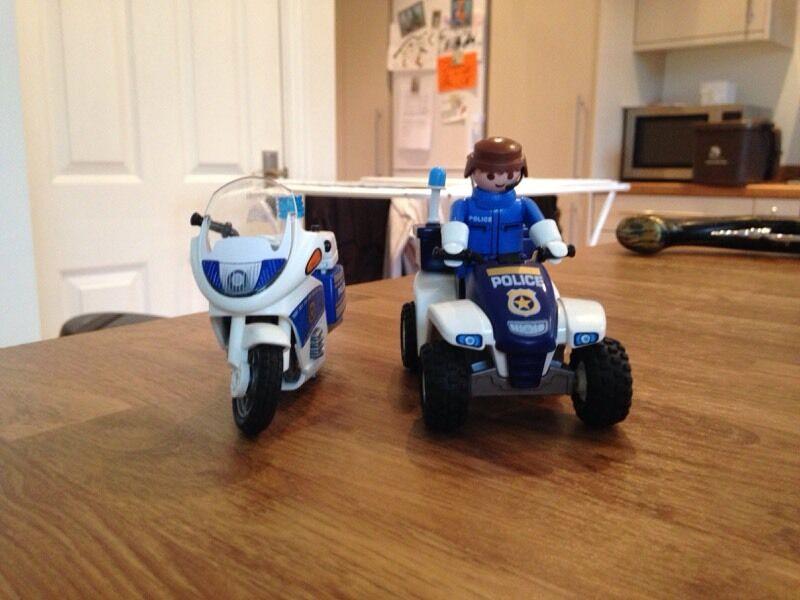 Playmobil Police Motorbike And Quad Bike In Verwood