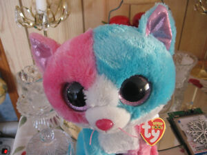 TY Beanie Boos - FIONA the Blue & Pink Cat
