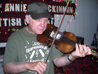 Old Cat With Fiddle