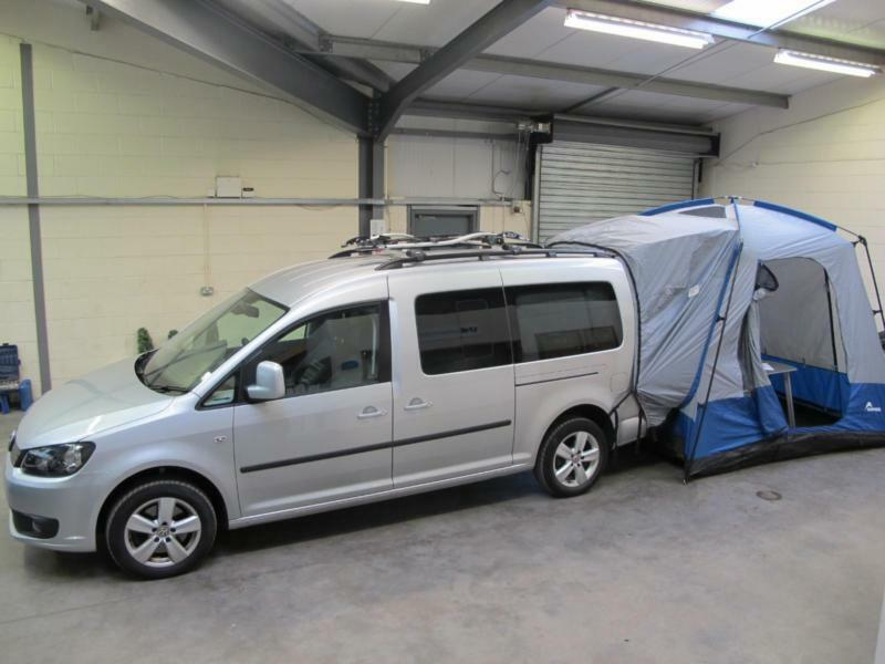 volkswagen caddy maxi c20 camper 2 0tdi 140ps bluemotion campervan rear awning in newcastle. Black Bedroom Furniture Sets. Home Design Ideas