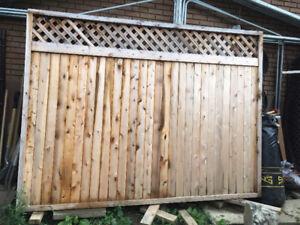 White Cedar Fence/Clôture Cèdre Blanc