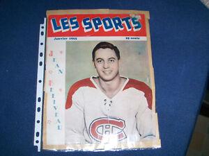 JEAN BELIVEAU-2 COVERS-SPORT REVUE-LES SPORTS-1955-HOCKEY
