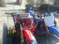 2007 crf250r and 2006 yzf250 for sale.