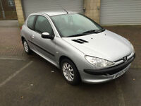 53 reg Peugeot 206 1.4HDi Look 3 Door Metallic Silver £30 Per Year Tax
