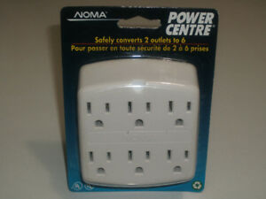 A Brand New NOMA Power Center, Converts 2 Outlets to 6