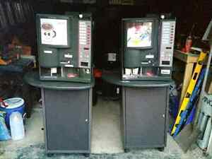 Two Saeco 7P Plus Italian Espresso Coffee Vending Machines