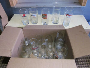 18 assorted beer glasses