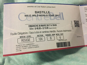 2 Bastille Tickets Montreal March 26