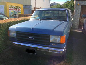 Ford F150 1988 Blue With Canopy 4 Speed