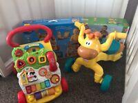 Vtech baby walker and Little Tikes ride on giraffe