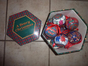 A Beary Christmas (12 bear themed) Christmas balls in box Kitchener / Waterloo Kitchener Area image 1