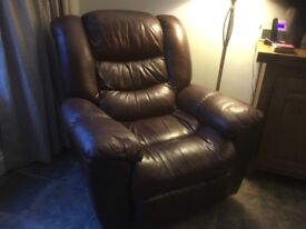 Large Brown Manual recliner chair