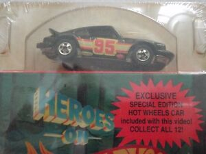 Pair of HEROES ON HOT WHEELS VHS VIDEO MINT IN BOX