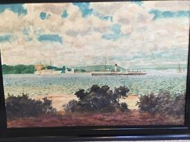 Original Oil Painting Brownsea Island Poole Harbour