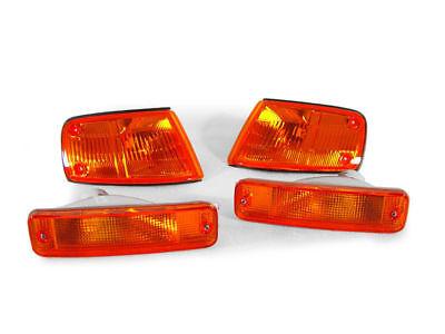 DEPO JDM Spec Amber Corner + Bumper Signal Lights For 1988-1989 Honda CRX CR-X
