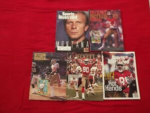 JOE MONTANA & JERRY RICE ON THE COVER OF 10 VARIOUS MAGS-49ERS!