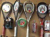 squash and badminton raquets + shoes brand KARAKAL