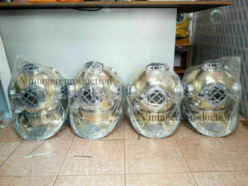 "Scuba Divers Helmet Collectible Design polish Finish Us Navy 18"" combo offer"