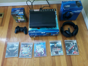 Ps3 with wireless headset and more stuff
