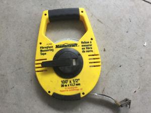 Mastercraft 100' Fiberglass Measuring Tape