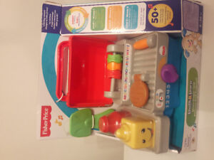 NEW Fisher Price bbq, mega bloks ice cream, sand toys 5-15